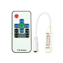 RF Wireless 10-Button Remote Control Mini RGB Controller for LED RGB Strips Light 5V-24V 12A / 3 Channels(China)