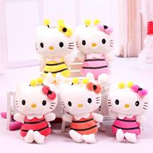 New Arrival Sitting Height 10cm 10pcs Hello Kitty Plush Toys Cute Stuffed Dolls for Children Gift Free Shipping