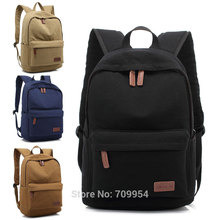 "Canvas Laptop Backpack Bag 15""15.6"" PC Casual Knapsack Travel Pouch For Asus HP Macbook"
