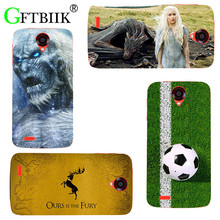 For Lenovo A859 A 859 Case Hard Plastic Pattern Colored Cases Fashion Printing Phone Bag Flower Shell New Game of Thrones 7(China)