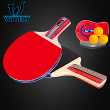 Wit for ess table tennis ball finished products double  table tennis ball Ping Pong Paddle Long/Short Handle Table Tennis Racket