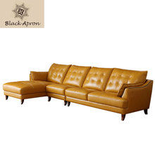 European Modern Sofas Three Seaters Furnitures Living Room Muebles Modern Sofa Sets Sectional Sofas Home Furniture Yellow 1619(China)