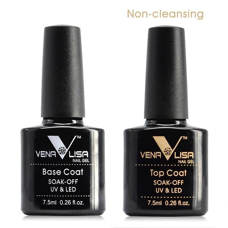 2018 New Free Shipping Nail Art Design Manicure Venalisa 60Color 7.5Ml Soak Off Enamel Gel Polish LED UV Gel Nail Polish Lacquer