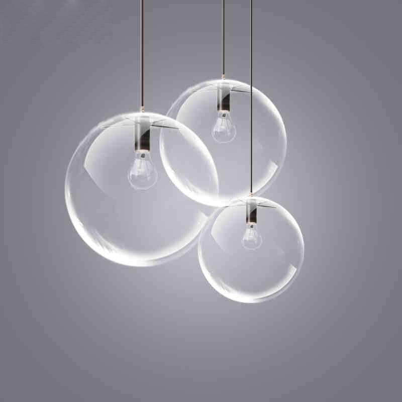 Ball pendant lights creative glass ball pendant lamp for dining room lustre pendente sala de jantar suspension luminaire lustre <br>
