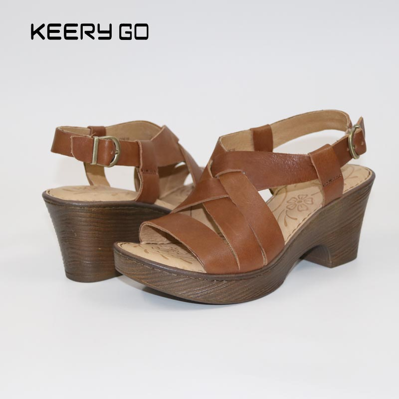 18 years in the summer of the first layer of leather with Rome sandals inside and outside the skin comfortable feet 36-39<br>