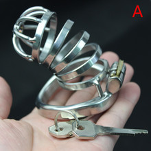 Buy Chastity Cage Bondage Gear Urethral Catheter Cock Cage Male Chastity Device Stainless Steel Chastity Belt Penis Cage Man 201