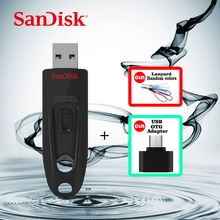 SanDisk SDCZ48 USB Flash Drive 128GB 64GB Pen Drive 32GB 16GB usb 3.0 PenDrives + Micro USB OTG Plug for Android Mobile
