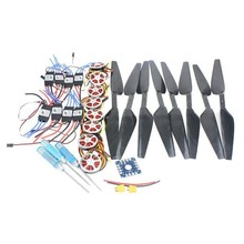 JMT 8-Axis Foldable Rack RC Helicopter Kit KK Connection Board+350KV Brushless Disk Motor+16x5.0 Propeller+40A ESC