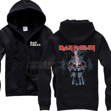 Iron Maiden 100%Cotton Hot sell Rock Hoodies Winter jacket high quality hot brand shirt punk hardrock death dark metal 05(China)