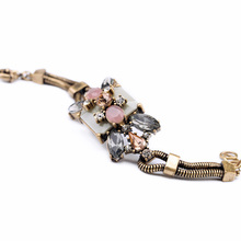 New Styles 2014 Fashion Jewelry Resin Plant Antique Charm Bracelet(China)