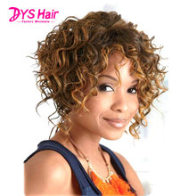 Best Kinky Curly Short Wigs For Black Women Synthetic Wigs Brown Wig Perruque Synthetic Women Pelucas Pelo Natural Pruiken Soft