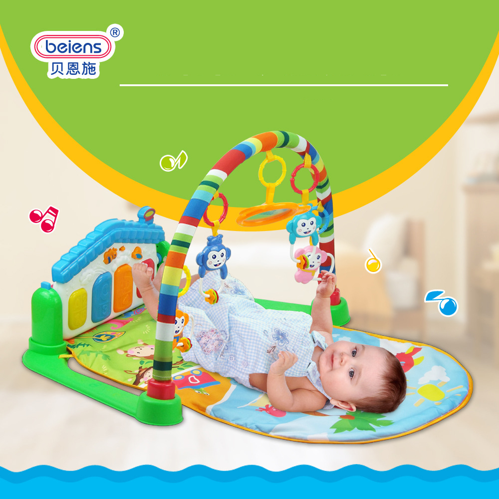 Newborn Baby Multifunction Piano Fitness Rack With Music Rattle Infant Activity Play Mat Children Educational Toys<br><br>Aliexpress