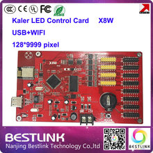 x8w wifi led controller card 128*9999 pixel rgb control card led programmable advertising board led display screen taxi top sign