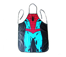 Funny Kitchen Cooking and Grilling BBQ Apron with Superwoman,Spider man,Hulk,Captain America Aprons for Adult Gifts(China)