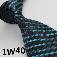 2017 Latest Style Corbatas Hombre Dark Cyan/Black Striped Design Wedding Party&Prom Dresses&Men's Accessories&Men's Designer Tie