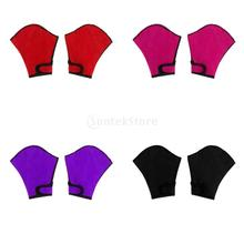 Unisex Water Sports Webbed Swimming Gloves Snorkeling Paddles Training Fingerless Gloves