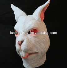 Fancy Costume  Latex Rabbit  Full Head Mask Maquarade Bunny Dress Up