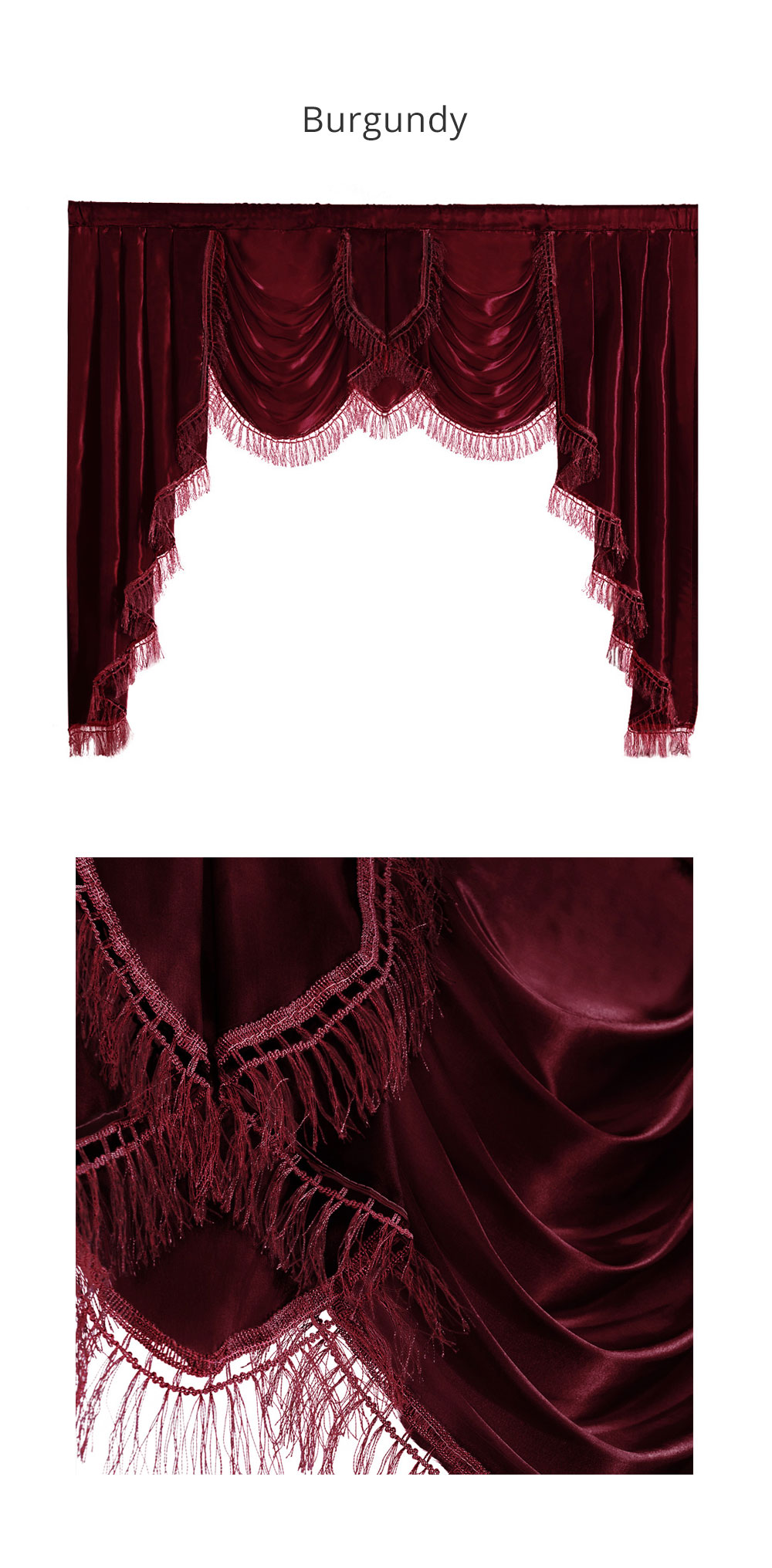 ZSBQ-BMD NAPEARL Luxury Valance Curtains Short Solid Color Drops For Bedroom European Style Semi Shade Fabric Elegant Panel Decor Rustic (4)