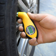 Hot Sale Digital LCD Car Tire Tyre Air Pressure Gauge Meter electronic Manometer Barometers Tester Tool For Auto Car Motorcycle(China)