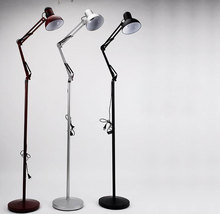 Dark Red Silver Black mechanical floor lamp home decorative light fixture lamp Lighting E27 socket vintage stand metal lighting(China)