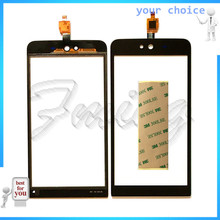 Mobile Phone Touch Sensor For Micromax Q338 Blot Capacitive Touch screen Digitizer front glass replacement TouchScreen with tape