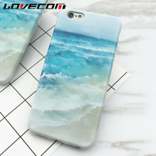 LOVECOM Sea Beach & Blue Sea Water Back Cover Hard Silicon IMD Thin Anti Shock Mobile Phone Cases For iPhone7 7 Plus 6 6S Plus