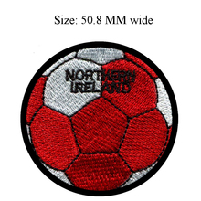 50.8MM wide NORTHERN IRELAND flag patch of soccer ball football shipping to for cloth/glue backing patch/flag circle patch(China)