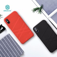 For iphone x funda case cover 5.8 inch Nillkin Liquid thin silicone protective shell Protector cover for iphone x case luxury(China)