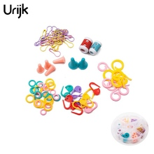 Urijk Crochet Hooks Plastic Markers Holder For Patchwork Counter Marker Needlework Knitting Tools Set Kit Box Sewing Accessories(China)