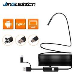 3 в 1 полужесткая USB эндоскоп камера 5,5 мм IP67 водонепроницаемая змея камера с 6 светодиодами для Windows и Macbook PC Android эндоскоп