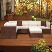 2017 beige bench craft resin wicker outdoor furniture(China)