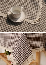 Table Cloth Overlay Dining Tablecloth Plaid Printed Cotton Table Cover Lattice Table placemat Decoration Table & Linens Textile