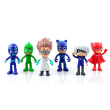 6Pcs/set Cute Pj Masks toy 8cm Model Characters Catboy Owlette Gekko Cloak Action Figure Toys Kids Children loves Pj Masks toys