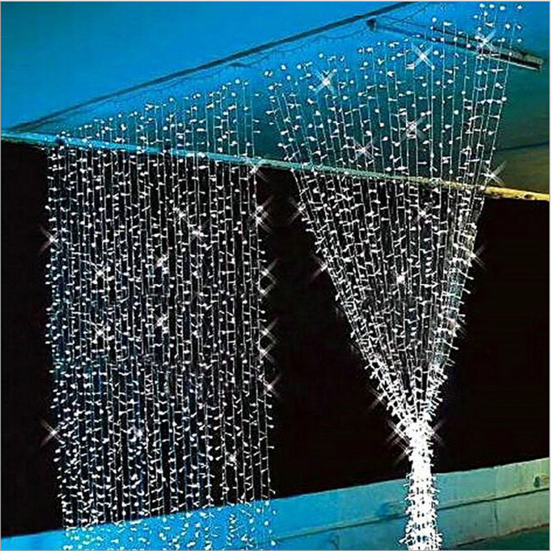 4.5M x 3M New Year Christmas Garlands LED String Christmas Lights Fairy Xmas Party Garden Wedding Decoration Curtain Lights Home<br><br>Aliexpress