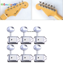 6 In Line Nickel Vintage Style Machine Heads Tuning Pegs For Strat Hot Jun30_25(China)