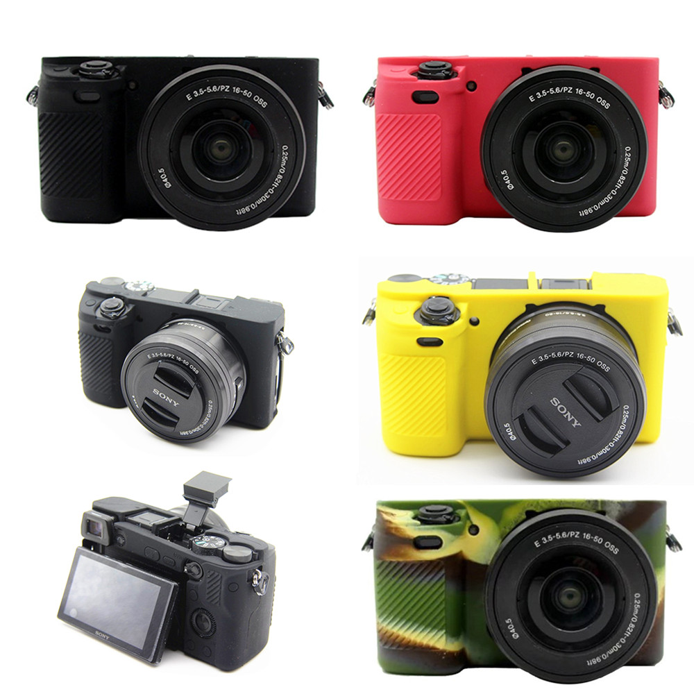 Flexible Silicone Camera Case Protective Anti-Scratch Cover for Sony A6000#2