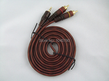 3.5 mm to Double lotus Audio line  Computer speakers line  Speakers sound line Audio signal cable 1.5M 4.8ft