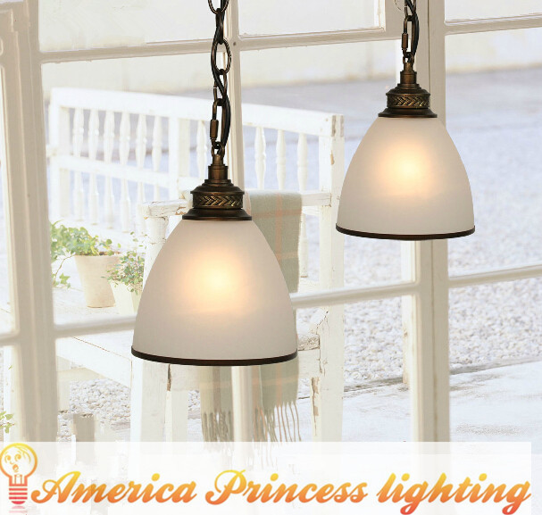 Bar Cafe Restaurant stairs single head chandelier lamp, material: glass, E27, diameter 15CM, AC110-240V.<br>