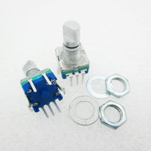 5PCS/LOT Plum handle 15mm rotary encoder coding switch / EC11 / digital potentiometer with switch 5 Pin(China)
