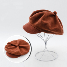 Wool Beret Caps Black French Beret Hats for Women 2017 Winter Warm Wool Hats Female Berets 675029(China)