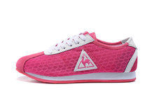 Breathable Le Coq Sportif Women's Sports Shoes,Classic Original Le Coq Sportif Women Running Shoes Rose Red/White Size Eur 36-39(China)