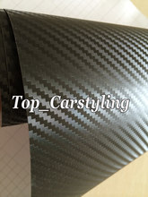 Best quality Big Texture 3D Black Carbon Fibre Vinyl Car Wrap Film With Release like Real Weave PROTWRAPS size 1.52x20m/ Roll(China)