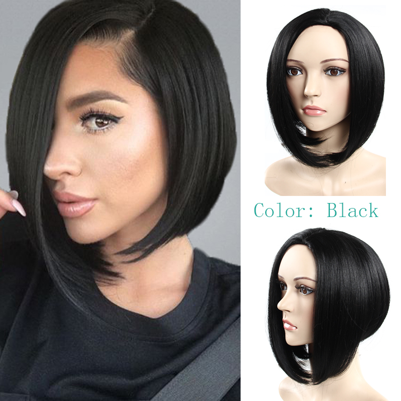 Rihanna Cheap short bob wig 99j/Black/Brown middle part none lace wigs Sexy bobo synthetic hair wigs for black women wholesales<br><br>Aliexpress