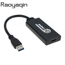 High speed USB 3.0 To HDMI Male to Female HD 1080P Video Cable Adapter Converter For PC Laptop Cheap