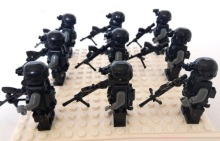 Original Blocks Educational Toys Swat Police Military Weapons Gun Model City Accessories Lepin Mini figures