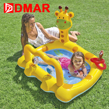 DMAR Inflatable Giraffe Pool Toys for Kids Infants Baby Swimming Pool Float Water Game Bathing Pool Children High Quality(China)