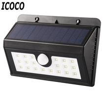 ICOCO 20 LEDs Solar Sensor Waterproof IP66 Energy Saving 3 Modes Human Body Induction Motion Outdoor Light New Flash Deal Sale