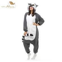 SISHION Unisex Adult Men Women Pajamas Plush One Piece Monkey Animal Party Christmas Costume Winter Warm Sleepwear OS0033(China)