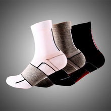 2017 New cotton mountain bike socks cycling sport racing bike socks outdoor sox sports brand white black quick dry crew(China)