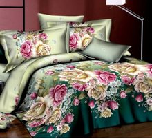 Bedding Set Queen Size Bed Sheet Luxury Duvet/Quilt Cover Set(China)